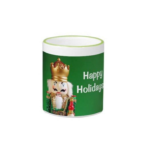 Christmas nutcracker print coffee mug