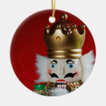 Christmas nutcracker round ornament