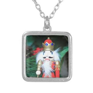 Christmas Nutcracker Silver Plated Necklace