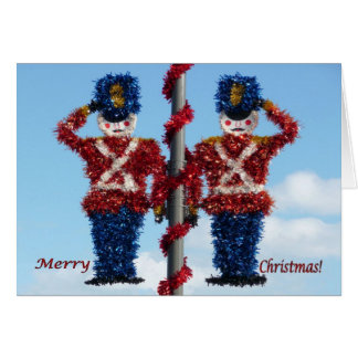 Christmas Nutcracker Soldiers Greeting Card