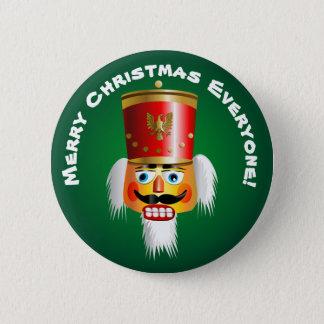 Christmas Nutcracker Toy-Soldier Cartoon Button