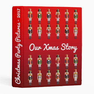 Christmas Nutcracker Toy Soldiers Army Mini Binder