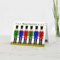 Christmas, Nutcracker Toy Soldiers in a row Card