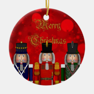 Christmas Nutcracker Trio-Round Ornament