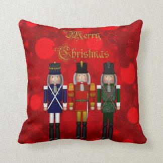 Christmas Nutcracker Trio-Square Pillow