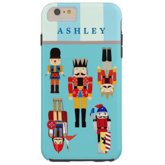 Christmas Nutcrackers Soldiers Personalized Name Tough iPhone 6 Plus Case