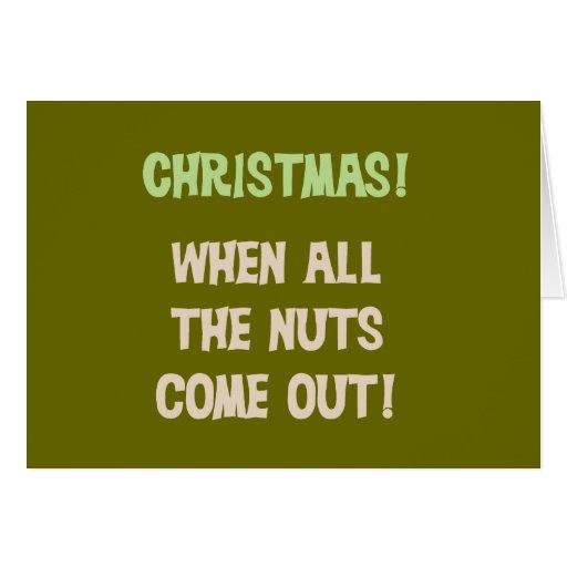 Christmas Nuts Tshirts and Gifts Greeting Card