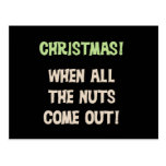Christmas Nuts Tshirts and Gifts Post Cards