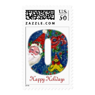 CHRISTMAS O LETTER / SANTA CLAUS WITH RED RIBBON POSTAGE