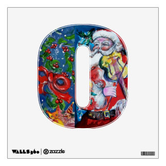 CHRISTMAS O LETTER /SANTA  CLAUS WITH VIOLIN WALL DECOR