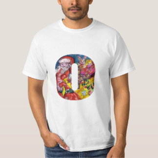 CHRISTMAS O LETTER  / SANTA  WITH GIFTS MONOGRAM T-Shirt