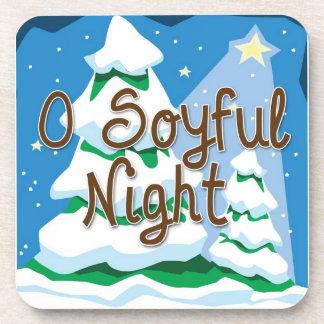 Christmas O Soyful Night Coasters