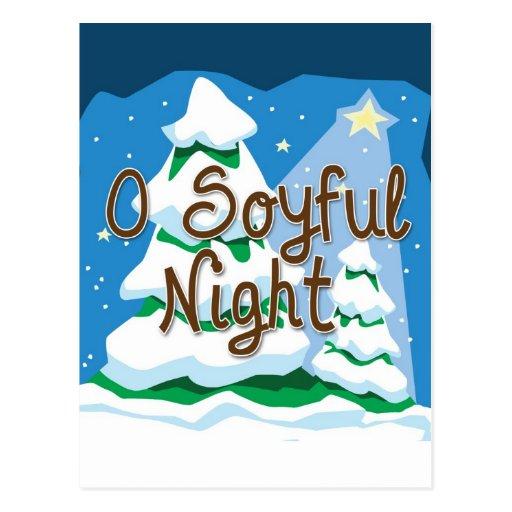 Christmas O Soyful Night Postcard