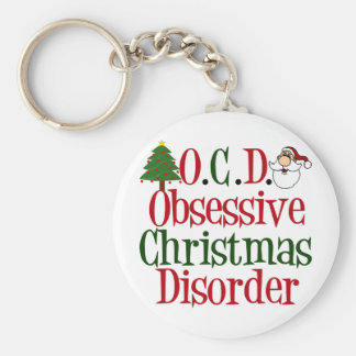 Christmas Obsession Basic Round Button Keychain