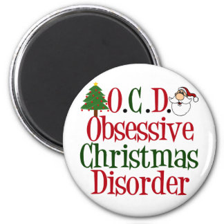 Christmas Obsession 2 Inch Round Magnet