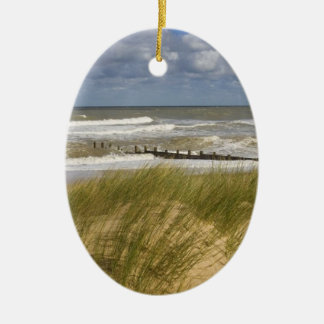 Christmas Ocean scene Ceramic Ornament
