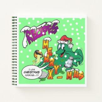 Christmas Octopus Cook Recipe Notebook