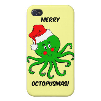 Christmas octopus iPhone 4/4S case
