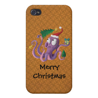 Christmas Octopus iPhone 4/4S Cases