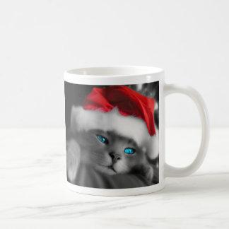 Christmas of cat - taza clásica