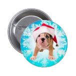 Christmas of dog - pin