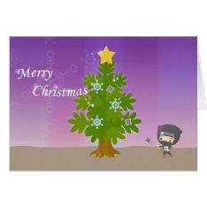 Christmas Of Ninja Card at Zazzle
