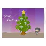 Christmas of ninja greeting card