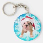 Christmas off dog - keychains