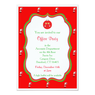 Christmas Office Party Invitation - Drinks Graphic