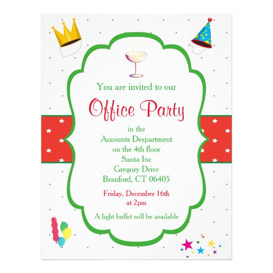 Small Office Christmas Party Ideas: Christmas Office Party Invitation Flyer