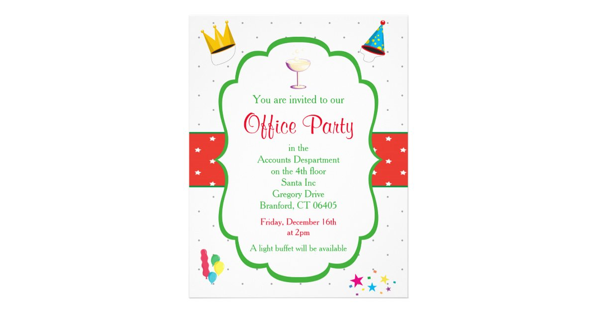 Christmas Office Party Invitation Flyer Zazzle Com
