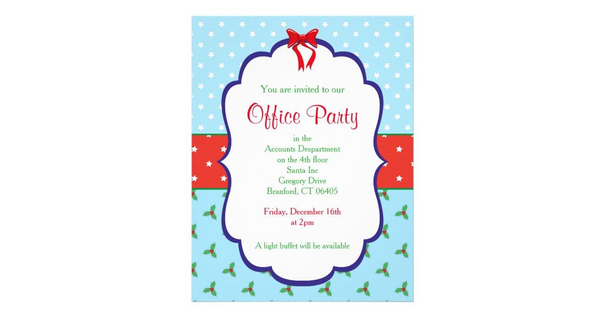 Christmas Office Party Invitation Flyer | Zazzle.com