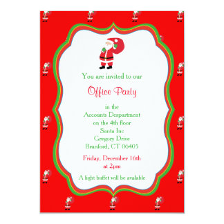 Christmas Office Party Invitation - Santa Graphic