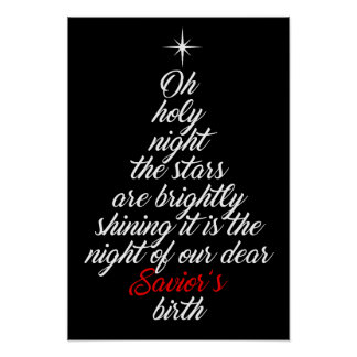 Christmas Oh Holy Night Poster