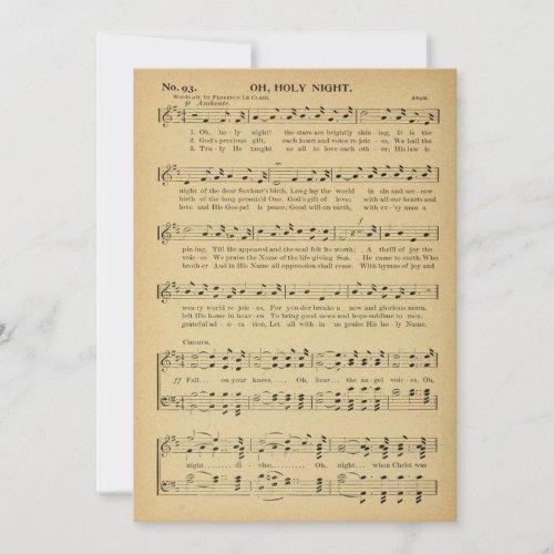Christmas, Oh Holy Night Vintage Sheet Music,