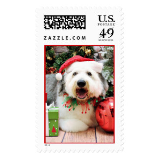 Christmas - Old English Sheepdog - Alphy Stamps