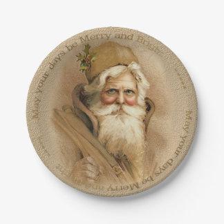 Christmas Old World Santa 2 - Porcela Paper Plates 7 Inch Paper Plate