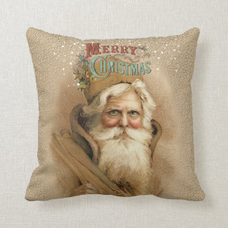 Christmas Old World Santa 2 Throw Pillow