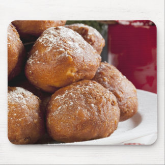 Christmas Oliebollen Mouse Pad