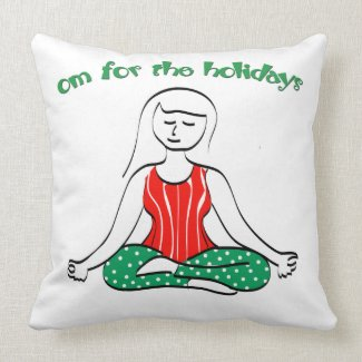 Christmas Om for the Holidays Pillows