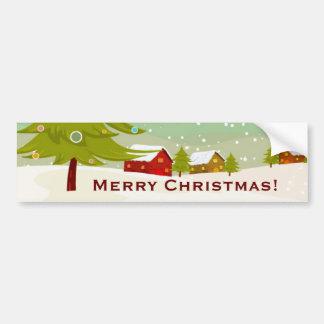 Christmas on a village land Bumper Sticker