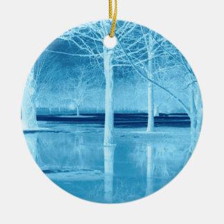 Christmas on Ice Ceramic Ornament