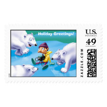 Christmas on ice, Holiday Greetings! Postage