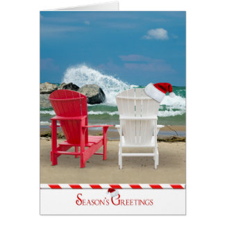 Christmas on the Beach Greeting Card