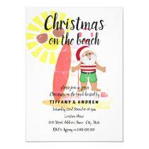Christmas on the Beach Summer Santa Party Invite