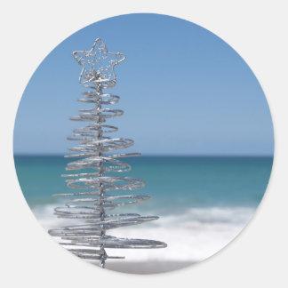 Christmas on the beach summer Xmas stickers