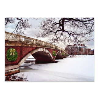 Christmas on the Charles River Boston Invitation