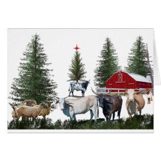 Christmas on the Farm Card