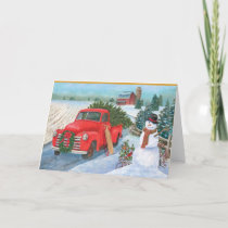 Christmas On The Farm Holiday Card