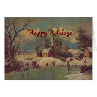 Christmas on the Farm Vintage Greeting Card